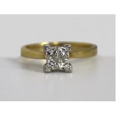 0.50 Carat Diamond Cluster Ring 18ct Gold