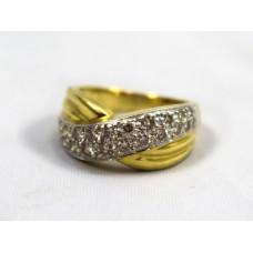 1 Carat Diamond Pavé Crossover 18ct Ring
