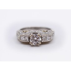 1.53 Carat Diamond Ring White Gold