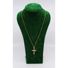 1.70 Carat Diamond Set Cross on 18ct Gold Chain