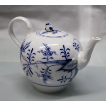 19th c. Meissen Blue & White Teapot & Cream Jug