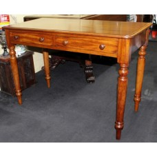 19th c. Mahogany Two Drawer Side Table
