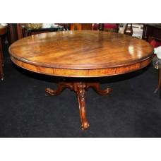 19th c. Mahogany Tripod Tilt Top Centre Table