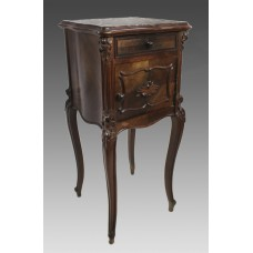 19th c. French Marble Topped Pot Cupboard