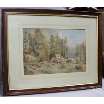 19th c. North American Landscape Watercolour
