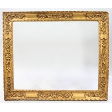 20th c. Italian Hand Carved Wood Gilt Picture Frame