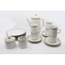 23 Piece Winterling Bavaria White & Gold Porcelain Coffee Service