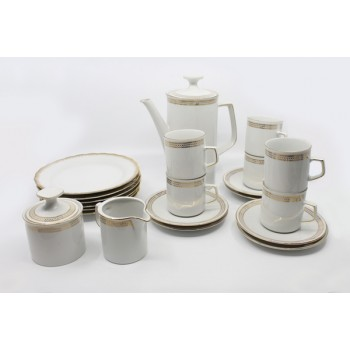 23 Piece Winterling Bavaria White & Gold Porcelain Coffee Service