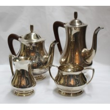 4 Piece 1960's Mappin & Webb Hallmarked Silver Tea Coffee Service