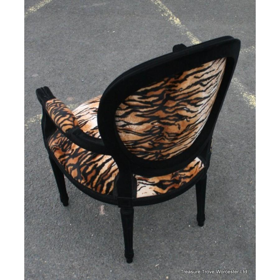 Leopard Print Louis Xv Style Fauteuil Armchair