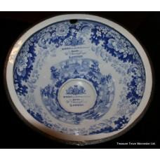 Antique 19th c. Commode Blue & White R.Wiss, London Ceramic Bowl