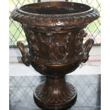 Very Heavy Classical Style Bronze Urn