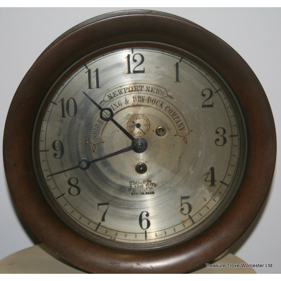 Fine Bronze Ashton Valve Co Nautical Ship S Clock