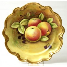 Coalport Bone China Hand Painted Fruit Cabinet Plate by Norman Lear