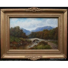 Edwardian Landscape signed A.Burton Oil on Canvas