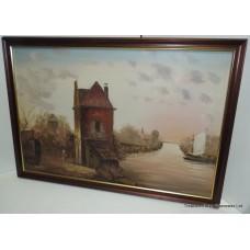 Contemporary Dutch Golden Age Style Landscape Oil on Canvas