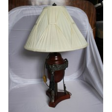Heavy Classical Style Theodore Alexander Bronze Table Lamp