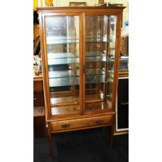 Glass Fronted Mahogany Display Cabinet