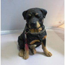 Hand Crafted & Painted Resin Rocky-Rotweiler