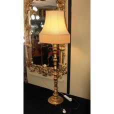 Large Hand Carved Giltwood Lamp Base