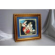 Early 20th c. Italian School Watercolour Set in Gilt Frame