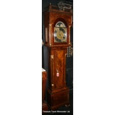 "Antique Mahogany 8 Bell 7ft 8"" Longcase Clock"