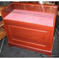 Mahogany Glazed Jewellery Display Counter