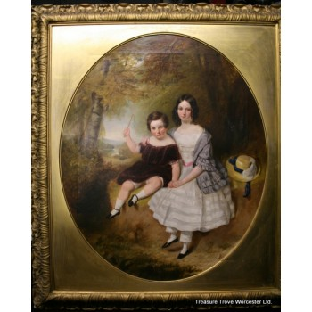 Fine Early 19th c. Portrait by James Bennett H.Smith Oil on Canvas