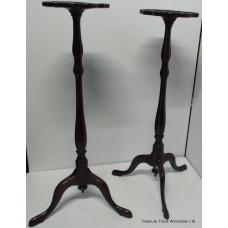 Rare Pair of 18thc. Georgian Mahogany Torcheres