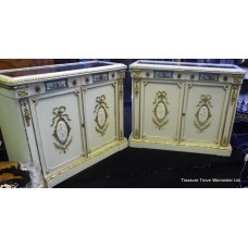 Pair of Victorian Painted Cabinets