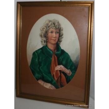 C.R.Poole Oval Portrait Watercolour