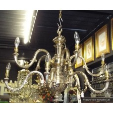 Heavy Solid Brass 10 Light Chandelier Light Fitting