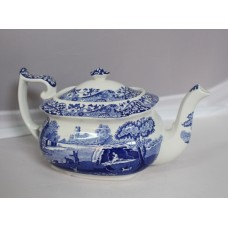 Spode Blue And White Teapot