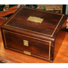 Regency Rosewood & Brass Writing Box with Secret Drawer