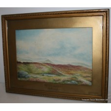'The Peak District Hathersage' A.Woolliscroft Watercolour