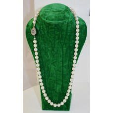 Akoya Pearl Necklace with 19th c. Sapphire Set Clasp