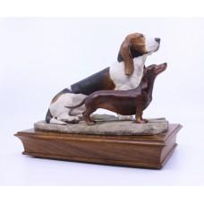 Albany Basset & Dachshund Sculpture