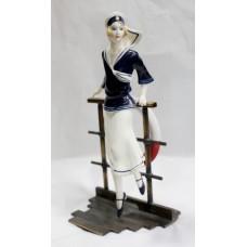 Albany Art Deco Style Figurine Sailor Porcelain & Bronze