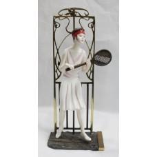Albany Art Deco Style Figurine 'Wimbledon' Porcelain & Bronze