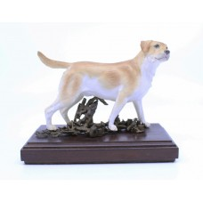 Albany Porcelain & Bronze Golden Retriever Sculpture
