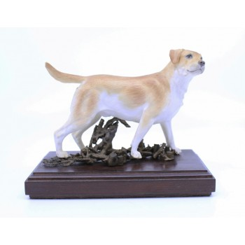 Albany Porcelain & Bronze Golden Retriever Sculpture