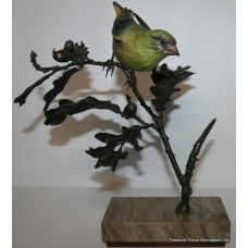 """Albany """"Greenfinch"""" Limited Edition Porcelain on Bronze Bird"""