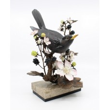 Albany Limited Edition Blackbird Sculpture Songbird Series