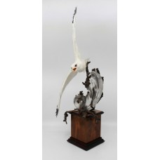 Albany Limited Edition Kittiwake Sculpture Porcelain on Bronze & Rock Crystal
