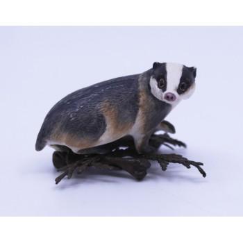 Albany Worcester Porcelain & Bronze Miniature Badger