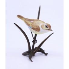 Albany Worcester Miniature Porcelain & Bronze Warbler