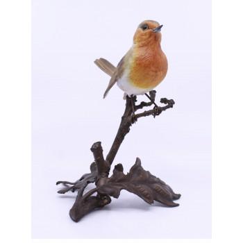 Albany Worcester County Birds Porcelain & Bronze Robin