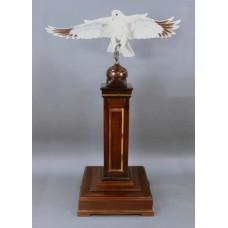 Albany Prestige Series Porcelain Gyrfalcon on Mahogany Pedestal