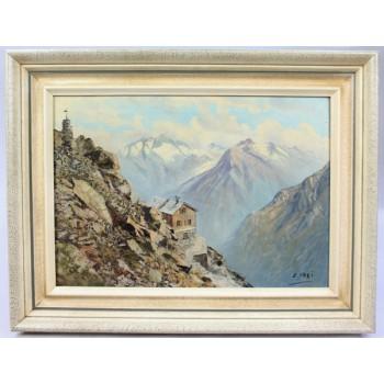 Alpine Landscape by Emil Frei (Swiss, 1882–1955) Oil on Canvas