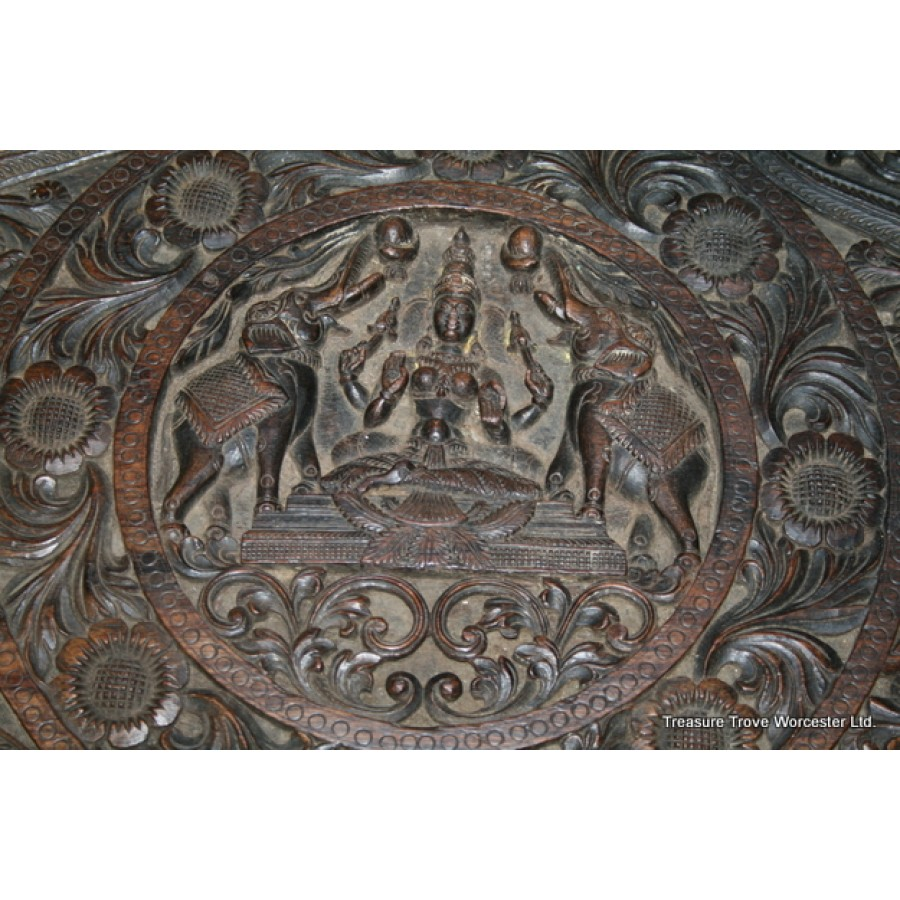 Anglo Indian Carved Rosewood Occasional Table
